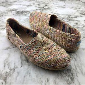 Toms Multicolor Woven Espadrille Flat Loafer 8